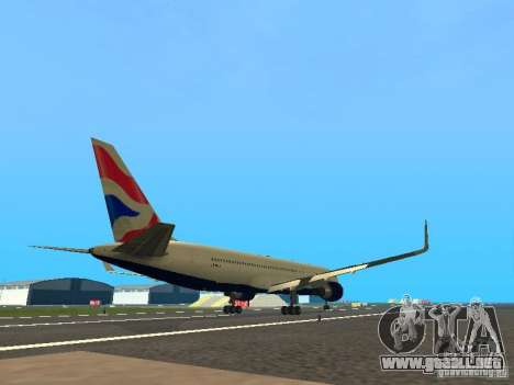 Boeing 767-300 British Airways para la visión correcta GTA San Andreas