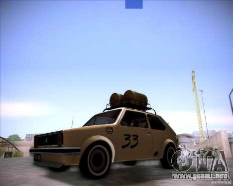 Volkswagen Golf MK1 rat style para GTA San Andreas vista posterior izquierda