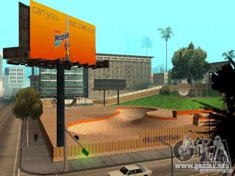 New SkatePark v2 para GTA San Andreas undécima de pantalla