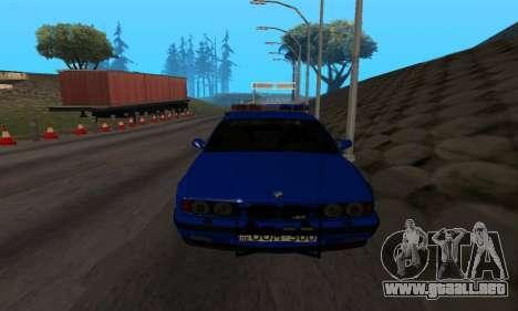 BMW M5 POLICE para GTA San Andreas vista hacia atrás