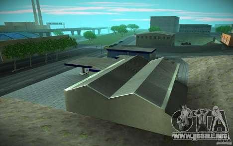 HD Garage in Doherty para GTA San Andreas sucesivamente de pantalla