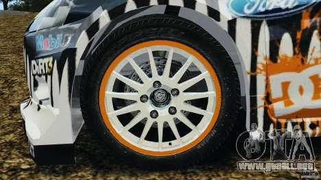 Ford Fiesta RS WRC Gymkhana v1.0 para GTA 4 vista hacia atrás