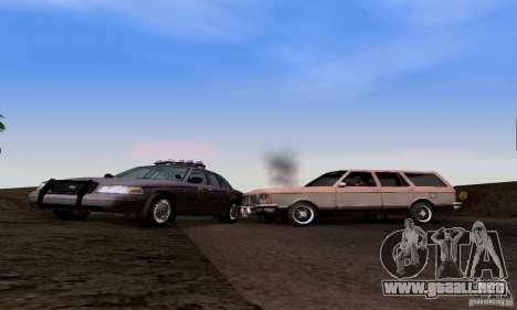 Ford Crown Victoria Mississippi Police para GTA San Andreas vista hacia atrás