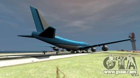 Real KLM Airplane Skin para GTA 4 Vista posterior izquierda