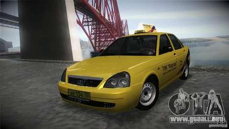 LADA Priora 2170 Taxi TMK Afterburner para GTA San Andreas