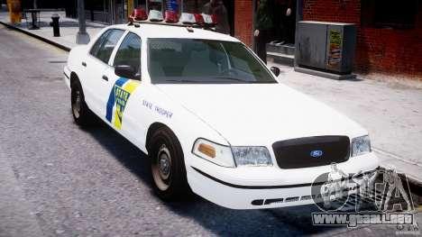 Ford Crown Victoria New Jersey State Police para GTA 4 vista desde abajo