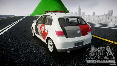Volkswagen Gol G5 PMSP [ELS] para GTA 4 Vista posterior izquierda