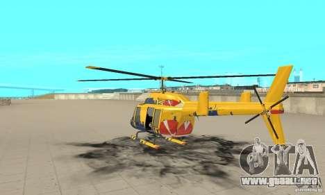El helicóptero de consejos de gta 4 para GTA San Andreas vista posterior izquierda