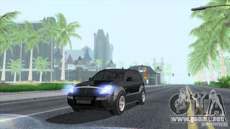 SsangYong Rexton 2005 para la vista superior GTA San Andreas