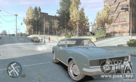 Chevrolet Camaro SS 1969 para GTA 4 visión correcta