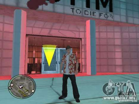 Tony Montana para GTA San Andreas sucesivamente de pantalla