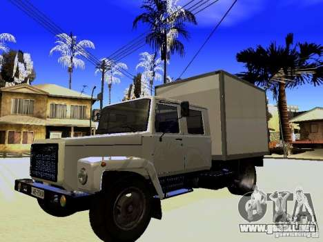 GAZ 3309 Huntsman para vista lateral GTA San Andreas