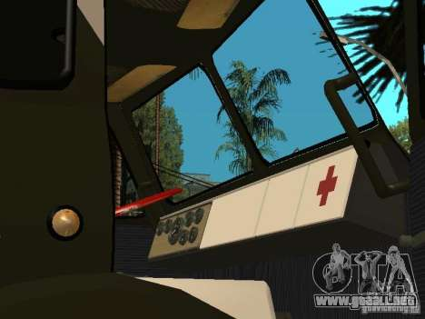 MAZ 515V para GTA San Andreas vista hacia atrás