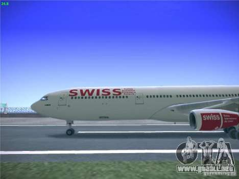 Airbus A340-300 Swiss International Airlines para GTA San Andreas left
