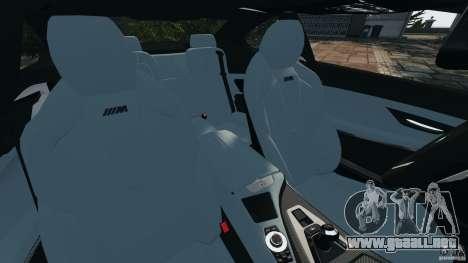 BMW M6 F13 2013 v1.0 para GTA 4 vista interior