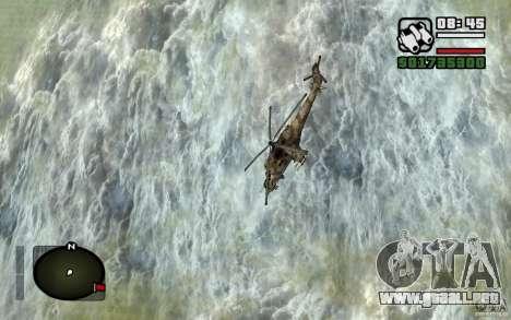 Mi-24 para visión interna GTA San Andreas