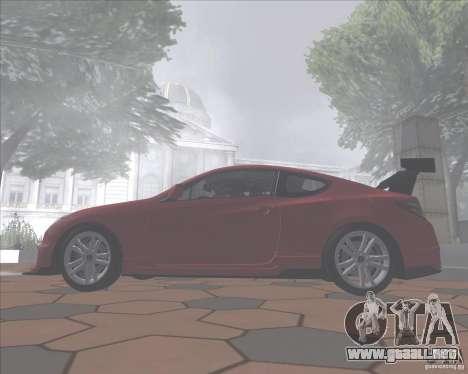 Hyundai Genesis Coupe para GTA San Andreas vista hacia atrás