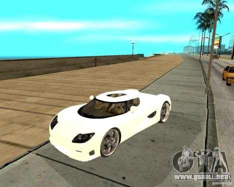Koenigsegg CCRT para GTA San Andreas