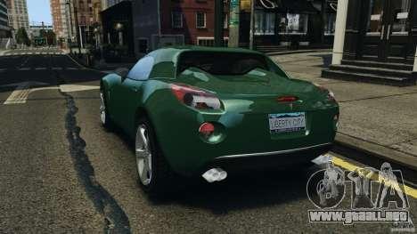 Pontiac Solstice 2009 para GTA 4 Vista posterior izquierda