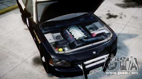 Dodge Charger Florida Highway Patrol [ELS] para GTA 4 vista hacia atrás