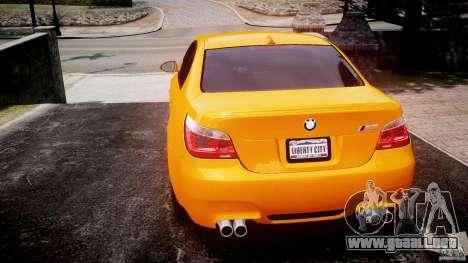 BMW M5 E60 para GTA 4 Vista posterior izquierda