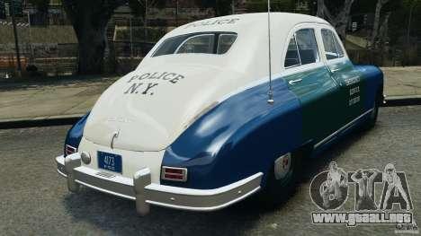Packard Eight Police 1948 para GTA 4 Vista posterior izquierda