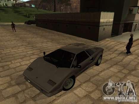 Lamborghini Countach 25th para GTA San Andreas left