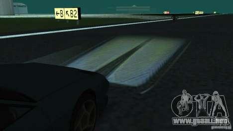 Faros halógenos para GTA San Andreas sucesivamente de pantalla