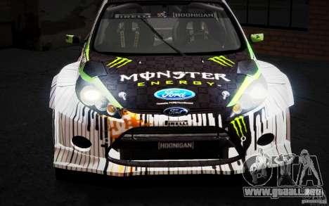 Ford Fiesta Gymkhana Four para vista lateral GTA San Andreas
