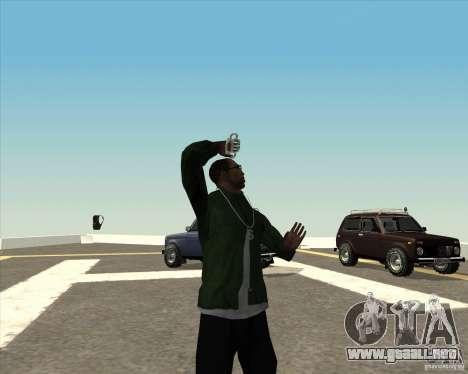 Animación diferente para GTA San Andreas octavo de pantalla