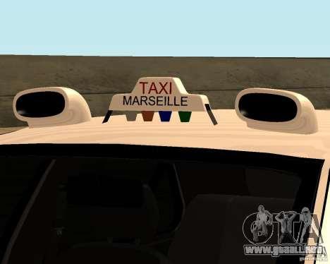 Peugeot 406 Taxi 2 para GTA San Andreas vista hacia atrás