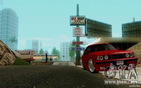BMW E34 540i Tunable para GTA San Andreas vista hacia atrás