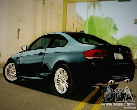 BMW M3 E92 v2.0 para GTA San Andreas left