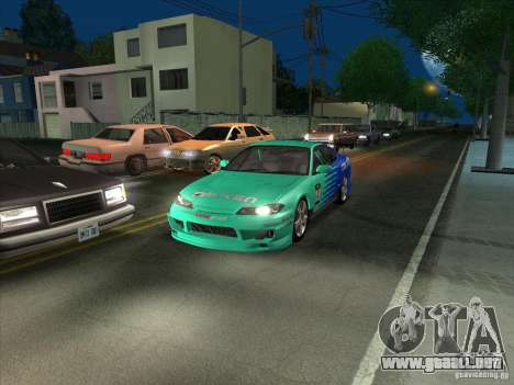 Nissan Silvia S15 Tunable KIT C1 - TOP SECRET para GTA San Andreas vista hacia atrás