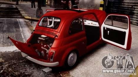 Fiat Abarth 595 SS 1968 para GTA 4 Vista posterior izquierda