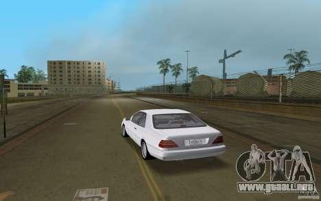 Mercedes-Benz 600SEC (C140) 1992 para GTA Vice City visión correcta