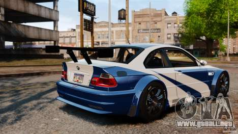 BMW M3 GTR MW 2012 para GTA 4 vista interior
