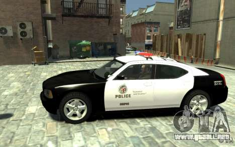 Dodge Charger LAPD V1.6 para GTA 4 left