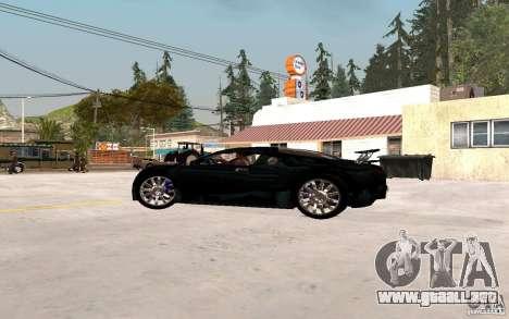 Bugatti Veyron para GTA San Andreas vista posterior izquierda