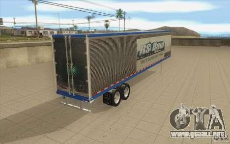Remolque para camión Optimus Prime para GTA San Andreas vista posterior izquierda