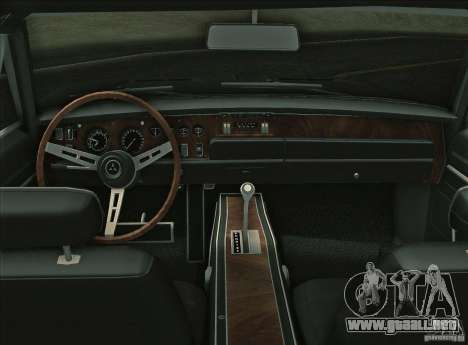 Dodge Charger RT 1969 para GTA Vice City vista interior