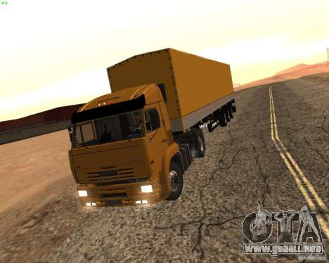 KamAZ 5460 camioneros 2 para GTA San Andreas