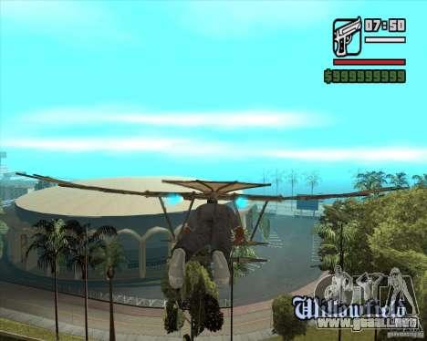 Máquina voladora de Leonardo da Vinci para GTA San Andreas segunda pantalla