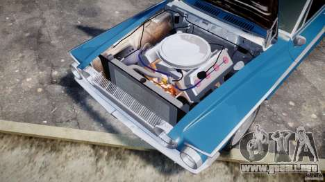 Dodge Dart 440 1962 para GTA 4 vista interior