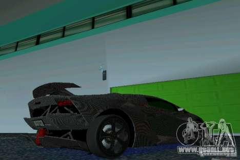 Lamborghini Sesto Elemento para GTA Vice City visión correcta