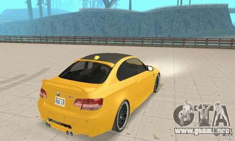 BMW M3 2008 Hamann v1.2 para la visión correcta GTA San Andreas