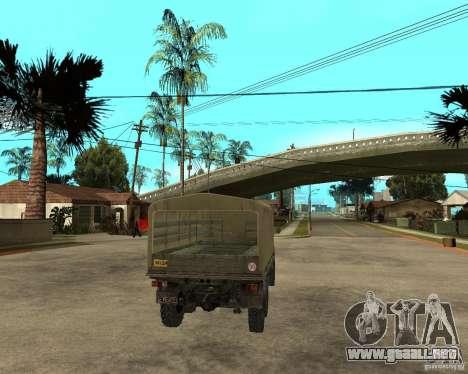 ZIL 131 para GTA San Andreas vista posterior izquierda
