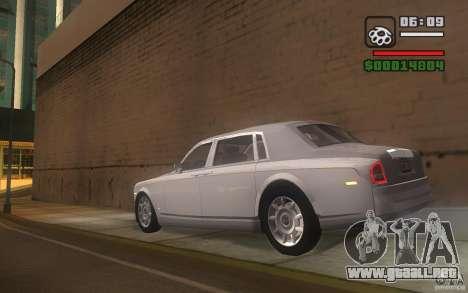 Rolls-Royce Phantom EWB para GTA San Andreas vista posterior izquierda