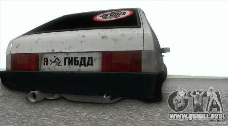 Vaz 2109 Hobo para la visión correcta GTA San Andreas