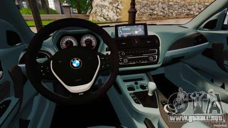 BMW 135i M-Power 2013 para GTA 4 vista hacia atrás